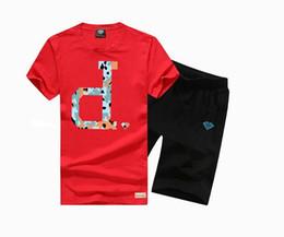 5433 s-5xl free shipping Casual o-neck diamond T-Shirt +short suit summer skateboard hip hop t shirt men sport