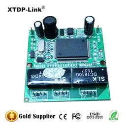 Mini 3 port Ethernet Switch 10 100Mbps RJ45 Network switch Hub PCBA Module System Integration Header Output Data