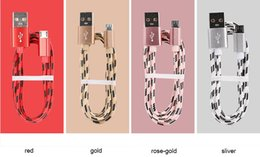 new 1m high speed Braided Nylon lightning Type C cable Micro Usb data charger Cable for Android Cellphones