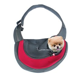 Small pet carrier cat puppy dog carrier outdoor travel oxford single shoulder bag sling fashion breathable pet carring bag