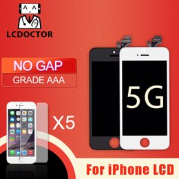 For iPhone 5 5C 5S LCD Grade A+++ Display Touch Digitizer Complete Screen with Frame Full Assembly Replacement Free DHL
