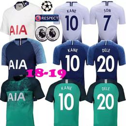 thai quality 2018 2019 Tottenhames Soccer Jerseys Home away third white KANE LAMELA ERIKSEN 20 DELE 7 SON Away blue spurs Football shirt