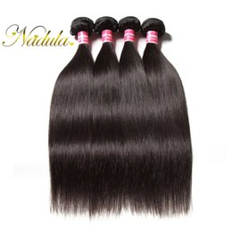 Nadula Brazilian Straight Human Hair Bundles 4pcs Virgin Human Hair Extensions Unprocessed Remy Human Hair Weave Bundles Peruvian Wholesale