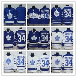 Top Quality ! 2018 New Men Toronto Maple Leafs Ice Hockey Jerseys Cheap #34 Auston Matthews blue white Jersey Authentic Stitched Jerseys