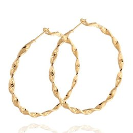 Europen new style Vintage Women 18K Gold Filled Big Hoop Earrings Fashion Party Jewelry boucle d'oreille