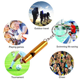 Mini Aluminum Whistle Dogs For Training With Keychain Key Ring Outdoor Survival Emergency Exploring Free shipping