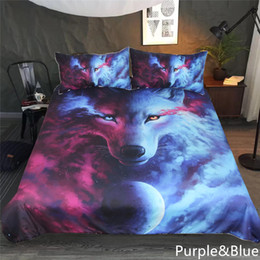 sheets comforters Coupons - JojoesArt 3D Printing tear wolf duvet cover Bedding Set (NO Comforter and Flat Sheet)