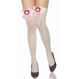 Fashion Sexy Fishnet Stocking lace Thigh Stocking for nurse costume high Quality