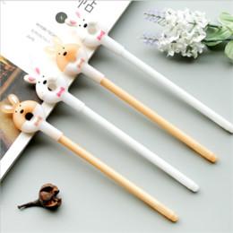 2Pcs Doughnut Rabbit Gel Pen Creative Pens School Stationery Office Supplies Kawaii Pen For School Girl Sweet Cute Writing Pen