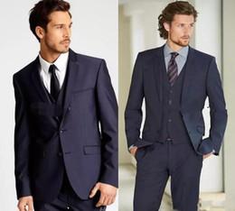 2019 New Formal Tuxedos Suits Men Wedding Suit Slim Fit Business Groom Suit Set S-4 XL Dress Suits Tuxedo For Men (Jacket+Pants)