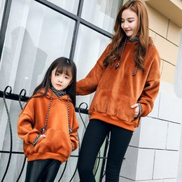 Limited full parents and children spring new 2018 korean version of thickened shirt gold velvet fake two-piece cap guard clothing tide