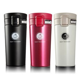 Vacuum mugs 380ml double wall 304 stainless steel mug thermo cup coffee tea milk travel mug thermol bottle car mug LAZER LOGO FOR FREE