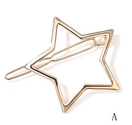 Fashion and simple hair accessories headdress star hairpin clip with elegant ladies hair card fashion preference.