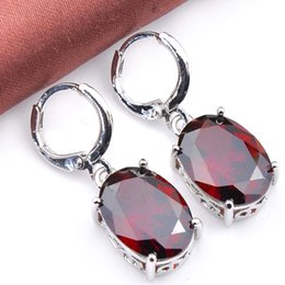 925 sterling silver garnet earrings designs jewelry for girls 5 piece lot E0187