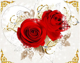Custom Photo Wallpaper 3D Stereo Original red love rose zenith mural background wall Extension Personality Wall Mural Wallpaper Painting