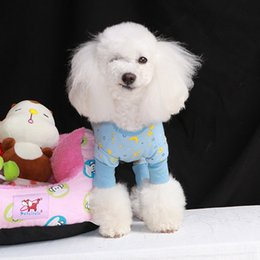 Cute Pet Sleepwear Dog Teddy Nightdress 4 Legs Dog Clothing for Summer Spring Autumn Small Medium Dogs Puppy 4 Legs Type