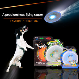 Pet light toys. Luminous frisbee. Flash flying saucers. Resistance to falling and biting frisbee. Creative toy for dog training.