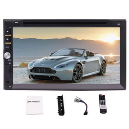 Double Din Car Stereo 7'' Capacitive Touchscreen Car DVD Player in Dash Head Unit Car Stereo support Bluetooth AM FM Radio Rear Camera
