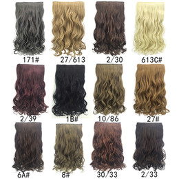 hot sale European and American wig Female wig Hair extensions Five clip curls synthetic hair weaving