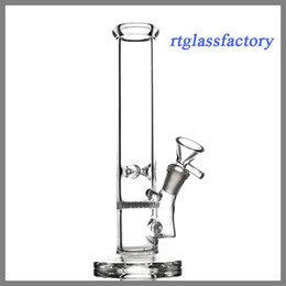 Dab oil rig glass bongs honeycomb disk percolator dia 38mm straight glass water pipes for smoking