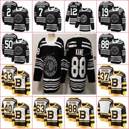 2019 Winter Classic Boston Bruins Pastrnak Rask Bergeron Chara Marchand Chicago Blackhawks Jonathan Toews Patrick Kane Keith Crawford Jersey