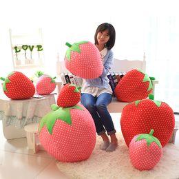 Strawberry Stuffed Plush Toy 25CM 35CM 45CM 60CM 24inch Novelty Dolls Cute Lovely Fruit Pillows cushions fast shipping