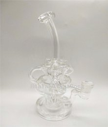 Glass Bong Water Pipe Clear Dab Rig Oil Rig Bend Tube Recycler Bong Smoking Bong Heady Pipe Factory Price
