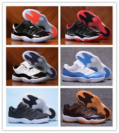 2018 New Retro 11 Low GS HEIRESS Men Basketball Shoes SkyBlue White Sport Shoes with shoe box