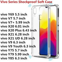 For VIVO Series Vivo NEX A Y83 Y81 X21i X21 UD V7 V7+ V9 X20 X21 Y69 Y71 Y75 Y79 Transparent Anti-knock Clear Shockproof Soft TPU Case