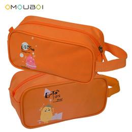 OMOUBOI Durable Naranja Poliéster Bolsa de Embrague a prueba de arañazos Totalizador Kits de Lavado Lavado Limpieza Accesorios Secos Organizador Al Aire Libre Bolsa de Cremallera
