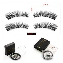 Hot makeup 3 Magnetic False Eyelashes Reusable 6D False Eyelashes Extension 3d eyelash extensions eyelashes With Black Box