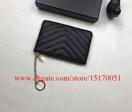 brand new real leather Women zipper coin purses caviar leather small wallet for lady 804