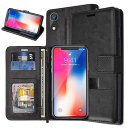 Crazy Horse Wallet Leather Photo Frame card Stand Flip Skin Cover Case for iphone Xr XS Max X 7G 8G 6S PLUS Samsung S8 S9 PLUS NOTE8 9