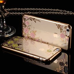 Secret Garden Plating TPU Bumper Thin Shiny Clear Phone Cases Cover Shell for IPhone x 8 7 7s 6 6s Plus 5s Samsung Galaxy S5 S9 Plus S7 Edge