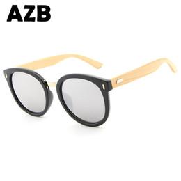 2018 AZB New fashion Ladies sunglasses brand retro designer bamboo glasses men's grain sunglasses Oculos 1522