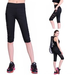 New Women Leggings Capris with Pocket Fitness Elastic Slim Cropped Hot High Waist Summer Mid Calf Pants S-XL
