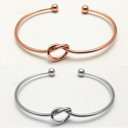 2018 Adjustable Love Knot Bangle Bracelets for Women Girls Custom Letters Cuff Bangle Bracelets for Friends