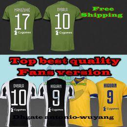 17 18 DYBALA HIGUAIN soccer jersey CUADRADO KHEDIRA MARCHISIO MANDZUKIC CHIELLINI BUFFON 2017 football uniform Sales