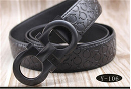 2018 High quality belts for men fashion brand designuers luxury cow geunuine leather belt Gold silver letter buckle waistband Free shipping
