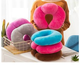 Hot Sale 5 styles U-shaped Plush Pillow Travel Pillow Cartoon Colorful Headrest Flight Travel Soft Nursing Cushion