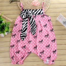 Newborn Baby clothing Baby Girls Romper 2018 Hot selling Cute Pink Polka Dot Butterfiy Suspended Romper Infant Kids Outfits