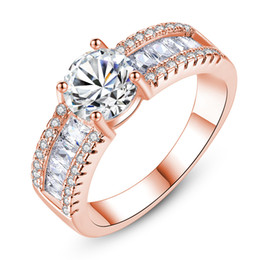 Fashion Exquisite Silver-Color Wedding Ring for Women AAA White Cubic Zirconia party Finger Ring Size 7 8 9