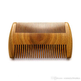 Mybasy High end 1pcs Comb hair tool multifunction comb natural authentic Chinese style tradition green sandalwood