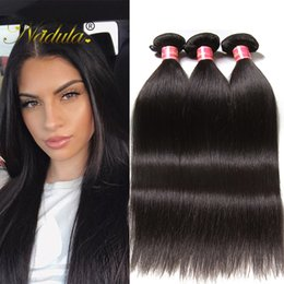 Nadula Brazilian Virgin Human Hair 4 Bundles Peruvian Straight Hair Weave Bundles Raw Indian Remy Human Hair Extensions Wholesale Cheap Silk