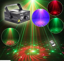 Mini Led RG Home Stage Lighting Effect 40 Patterns Star Laser Projector With Remote lumiere Disco Lights Dj Party Stage LightAC110V-220V