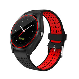 V9 Smart Watch with Camera Bluetooth Smartwatch SIM Card Wristwatch for Android Phone Wearable Devices pk dz09 A1 gt08