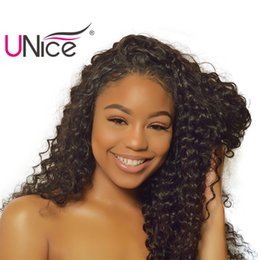 UNice Hair Virgin Brazilian Deep Wave 3 Bundles Human Hair Weaves Peruvian Indian Malaysian Hair Bundle Nice Curl Bulk Price Wholesale Wavy