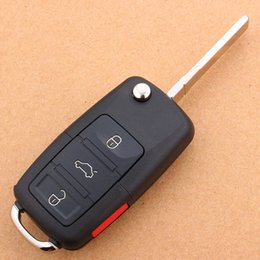 3 + 1 key Volkswagen flip key shell Tiguan Sagitar Golf Lang Yilai Polaris MAGOTAN POLO Skoda car folding remote key shell