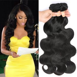 8A Brazilian Body Wave Virgin Hair Weave 4 Bundles Unprocessed Remy Human Hair Bundles Wet and Wavy Hair Natural Color Free Shipping
