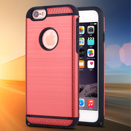 Luxury 2 in 1 Shockproof case For iphone 7 6S 6 Cover Shell Hard PC and Matte Silicone TPU Back Cover phone Case